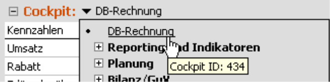 Ermittlung der Cockpit-ID über Tooltips