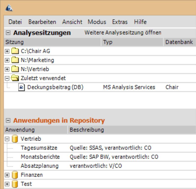 DAS-Dateien und Repository