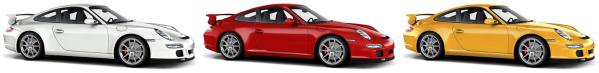 Porsche GT 3 Farbvarianten