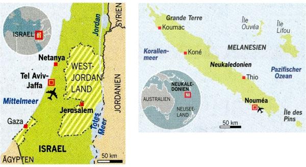 Israel, Neukaledonien
